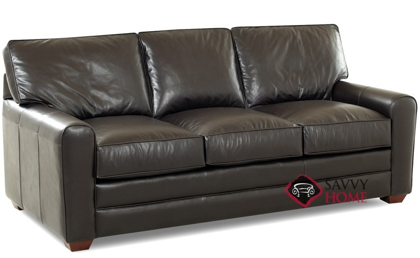 Halifax Queen Leather Sleeper Sideview Sofa