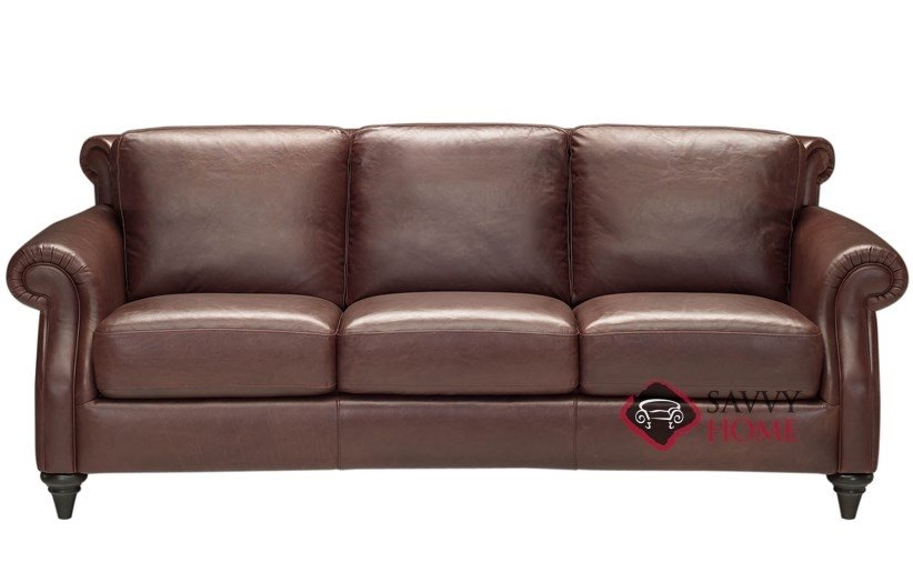 Basento A Leather Sofa By Natuzzi Is Fully Customizable By - Mahogany leather sofa