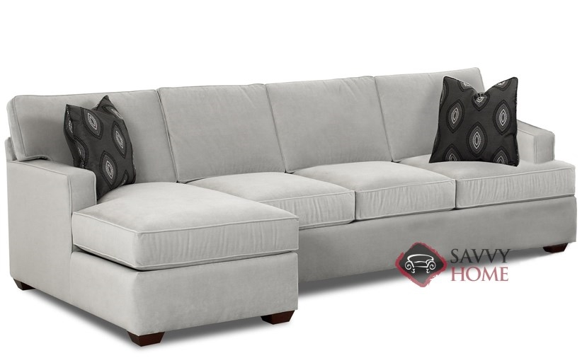 Lincoln Chaise Sectional Queen Sofa Bed by Savvy