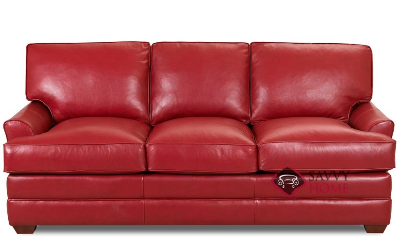 Gold Coast Leather Queen Sleeper Shown In Durango Strawberry