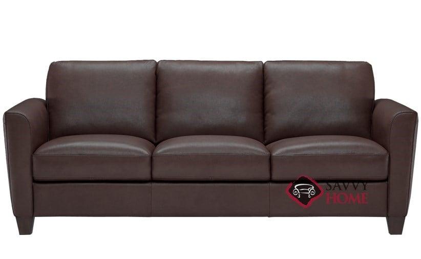 B592 Queen Leather Sleeper Pictured In Denver Dark Brown