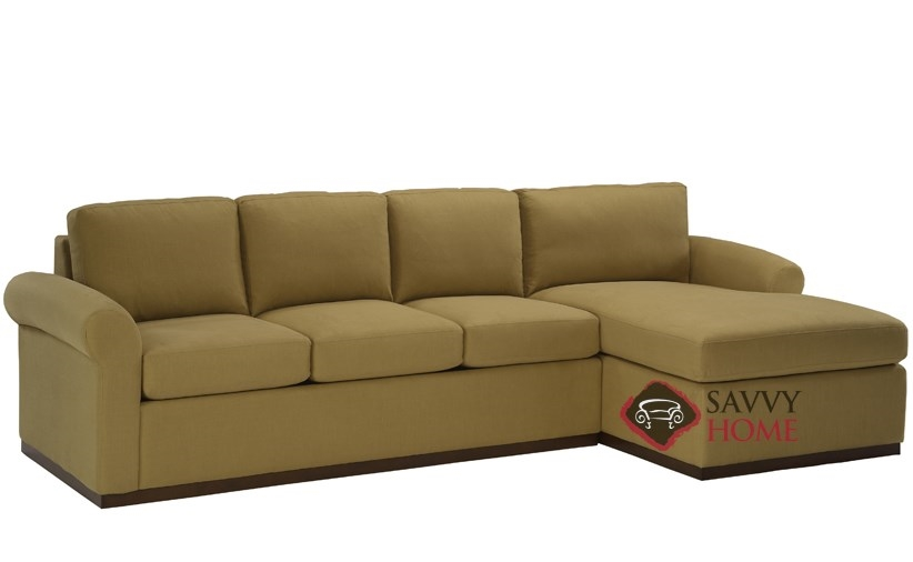 Eclipse Chaise Sectional With 3 Cushion Earth Designs Sofa By Lazar