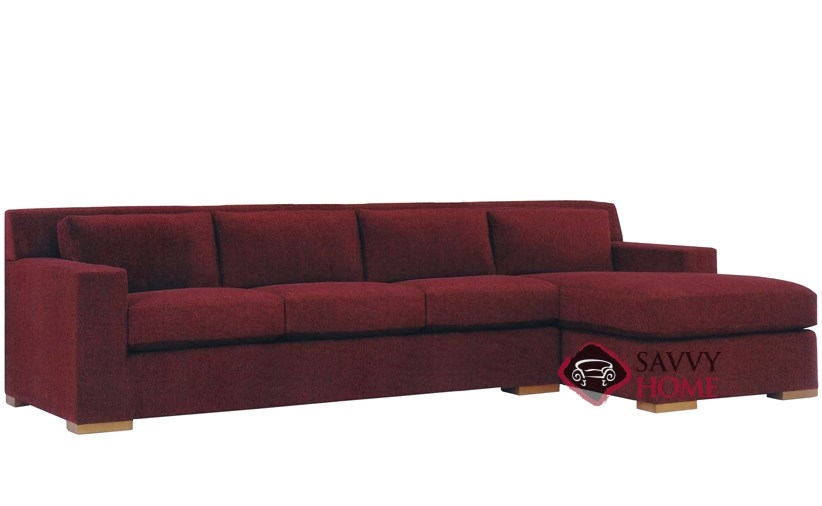 Corvo Chaise Sectional with 3-Cushion Sofa by Lazar Industries