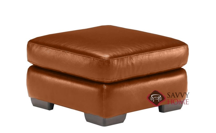 A121 Natuzzi Leather Ottoman