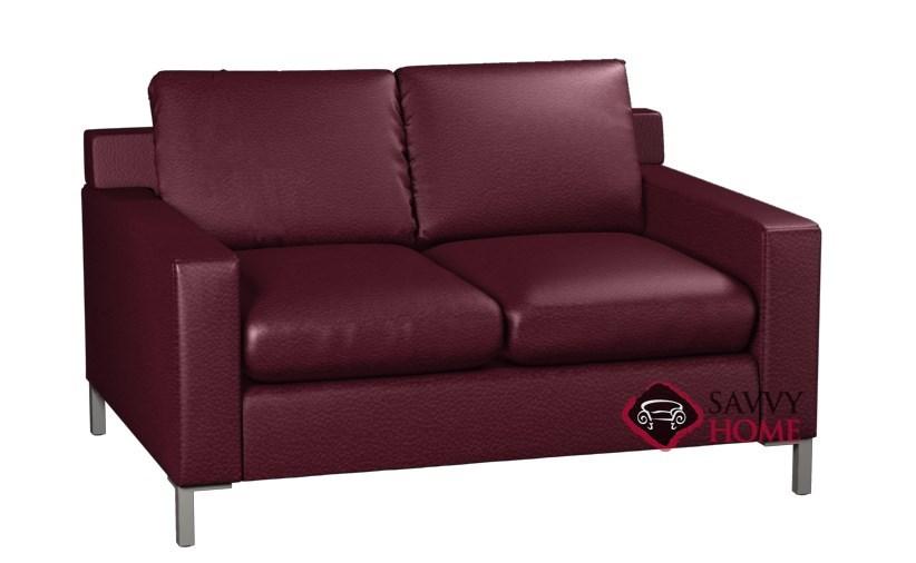 Soho 2 Cushion Leather Twin Sleeper By Lazar Industries