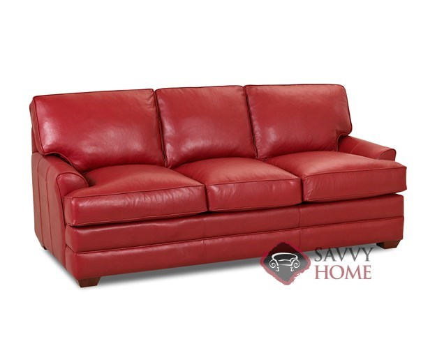 Gold Coast Leather Stationary Sofa By Savvy Is Fully