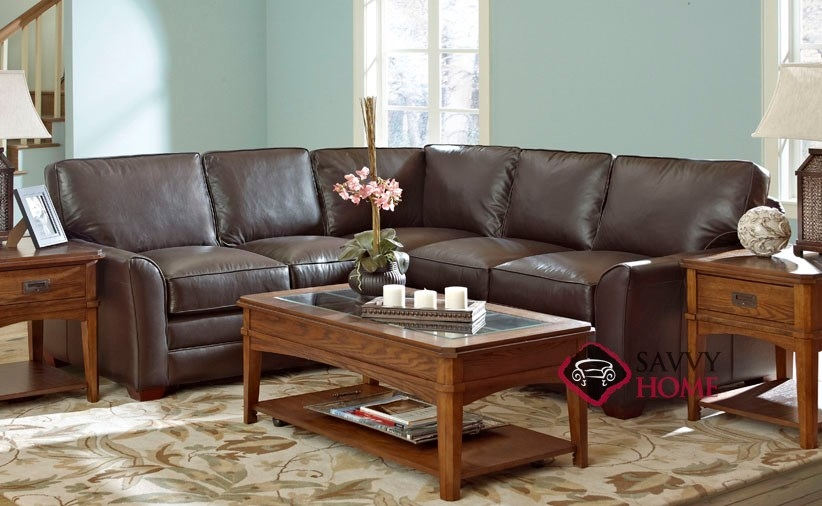 Gold Coast Leather Stationary True Sectional By Savvy Is