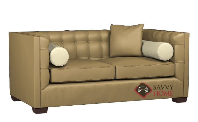 Tommy Leather Twin Sofa Bed by Lazar Industries