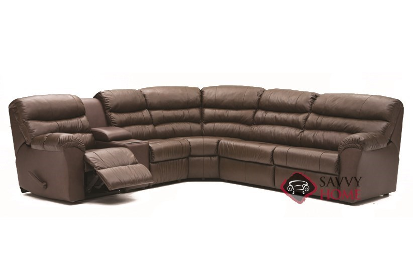 Durant By Palliser Leather Reclining True Sectional By