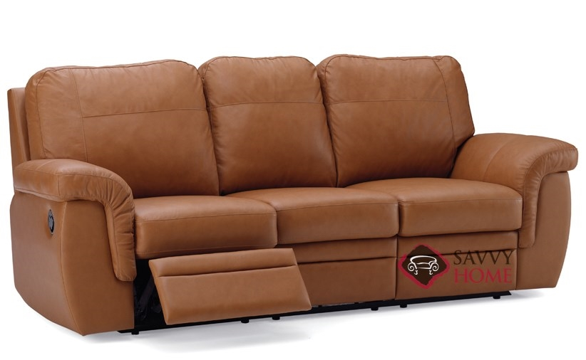 Beau Brunswick Dual Reclining Leather Sofa By Palliser