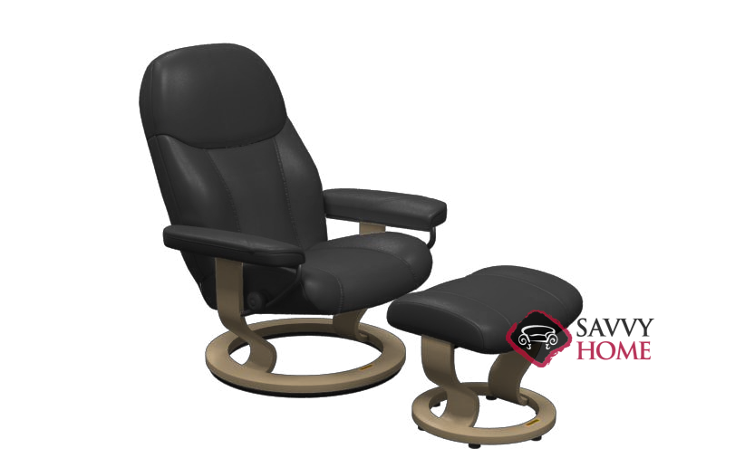 Awe Inspiring Quick Ship Consul Leather Reclining Chair In Batick Black By Stressless With Fast Shipping Savvyhomestore Com Machost Co Dining Chair Design Ideas Machostcouk