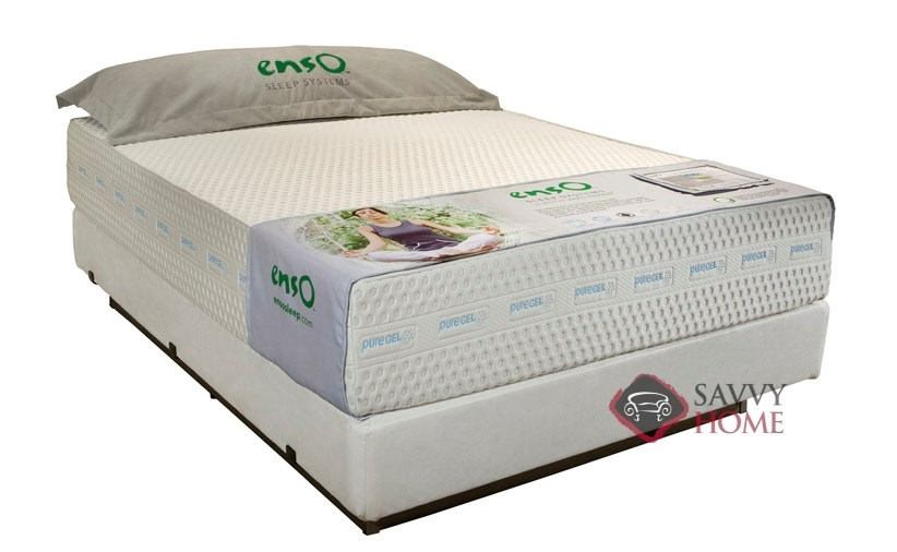 blue mist 12 puregel memory foam mattress by enso sleep systems. Black Bedroom Furniture Sets. Home Design Ideas