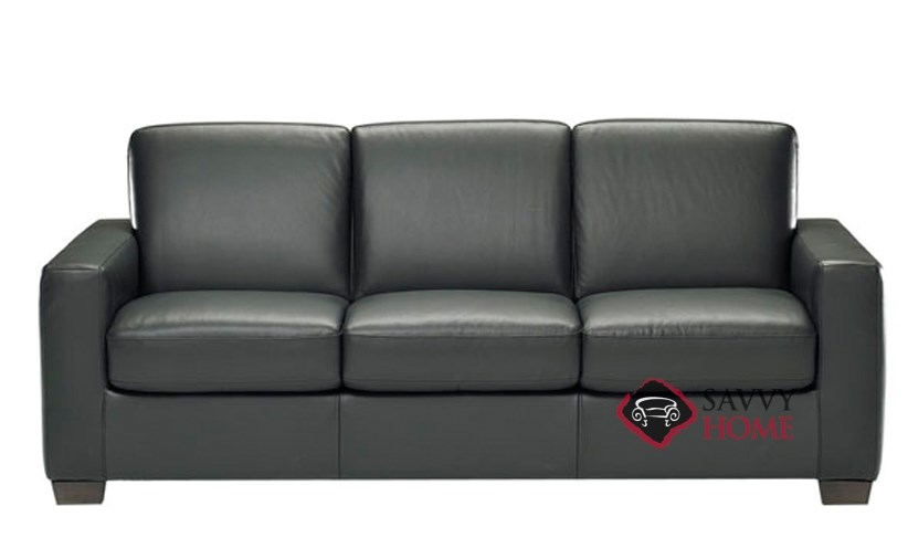 B534 Leather Sofa Shown In Belfast Black