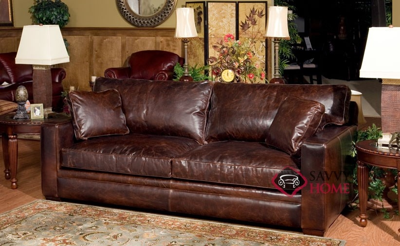 Houston Leather Stationary Sofa by Savvy is Fully Customizable by ...
