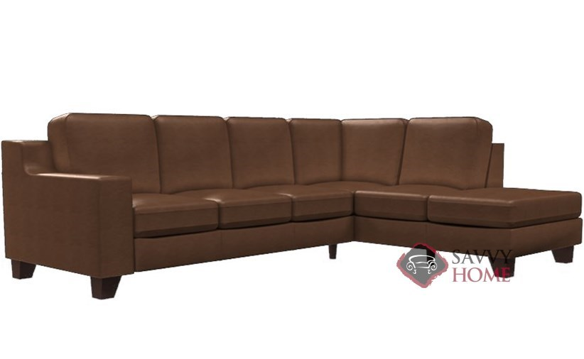 Reed Leather Large Chaise Sectional By Lazar Industries