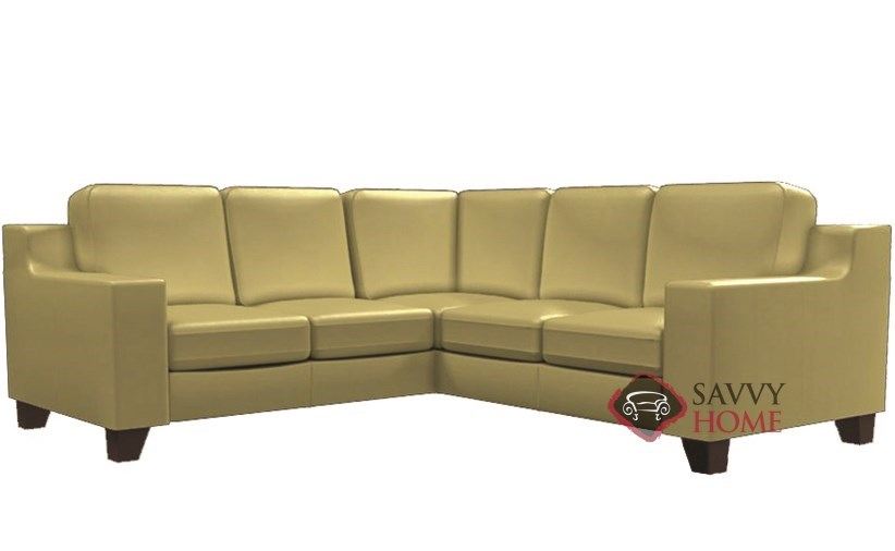 Reed Leather Compact True Sectional Sofa By Palliser