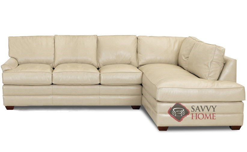 Delicieux Gold Coast Leather Chaise Sectional Sleeper Shown In Outsider Alabaster