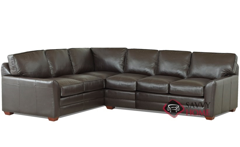 Gold coast leather true sectional by savvy is fully for Sofa couches gold coast