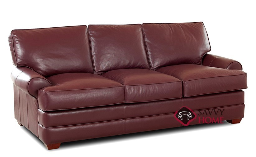 montreal leather sleeper sofas queen by savvy is fully. Black Bedroom Furniture Sets. Home Design Ideas