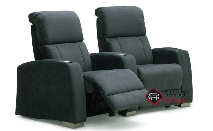 Hifi Fabric Reclining Loveseat With Console By Palliser Is