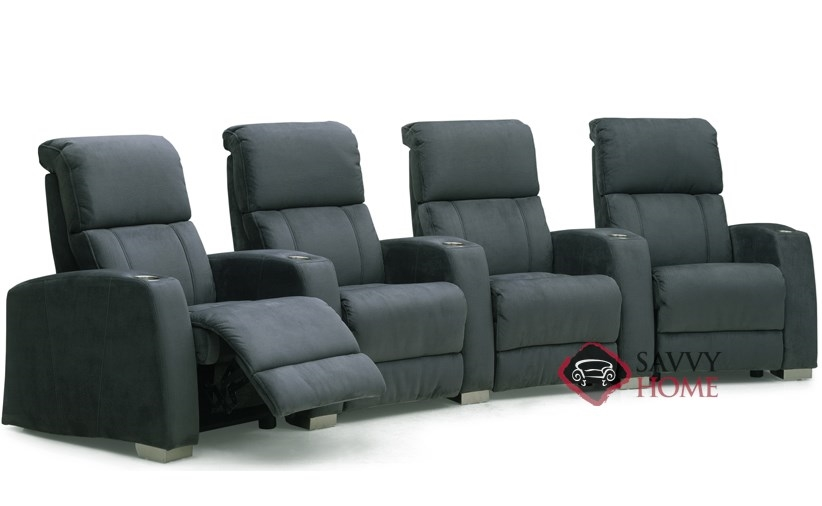 Hifi 4-Seat Reclining Home Theater Seating (Curved) by Palliser--Power  Upgrade Available