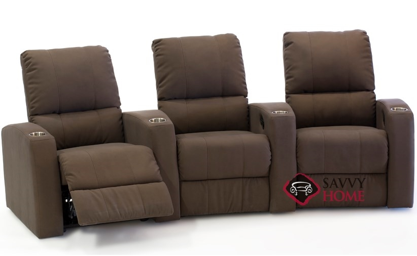 Pacifico 3-Seat Reclining Home Theater Seating (Curved) by Palliser--Power  Upgrade Available