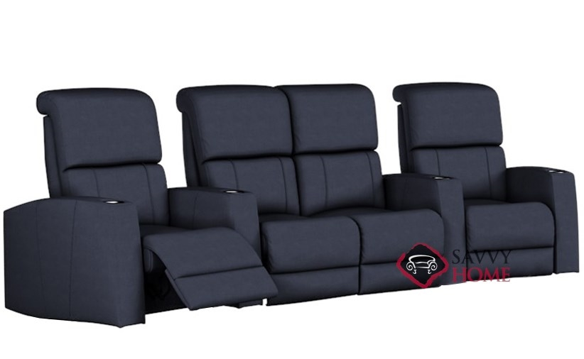 Hifi 4-Seat Reclining Home Theater Seating with Loveseat (Curved) by  Palliser--Power Upgrade Available