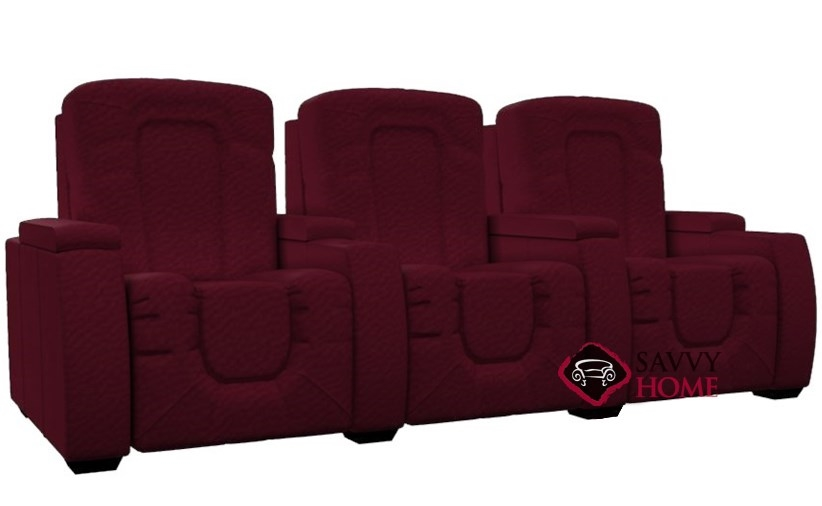 Rhumba 3-Seat Reclining Home Theater Seating (Straight) by Palliser--Power  Upgrade Available