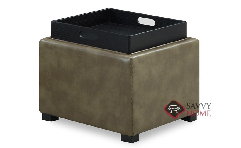 Quick Ship Cube By Emerald Fabric Stationary Ottoman In