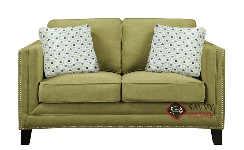 green small space linen tone amazon dp modern fabric com loveseat
