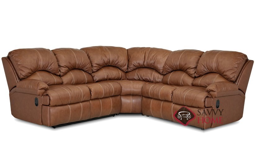 Milan 3-Piece True Sectional Leather Sleeper Sofa  sc 1 st  Savvy Home Store & Milan Leather True Sectional by Savvy is Fully Customizable by You ... islam-shia.org