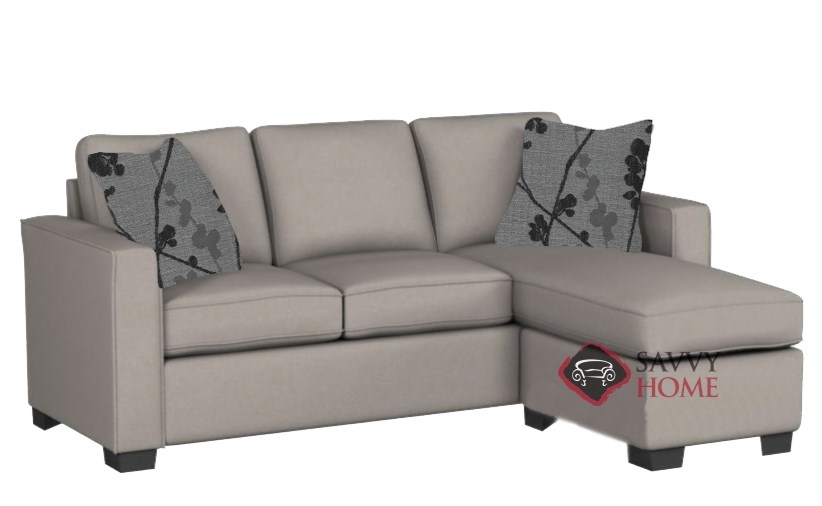 The 702 Chaise Sectional Queen Sleeper Sofa By Stanton In Geo Flint