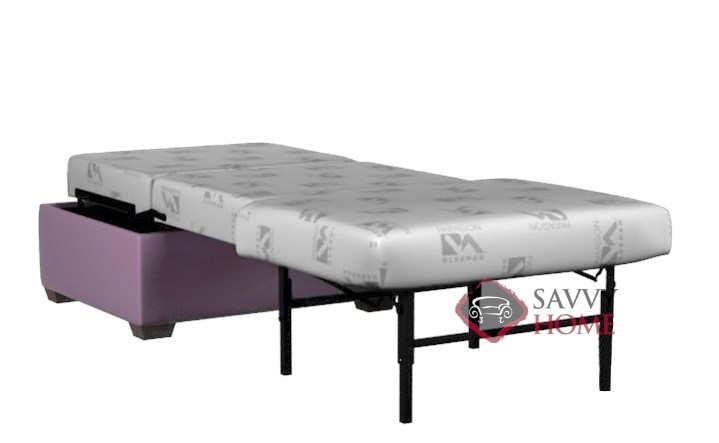 Cameron Paragon Cot Ottoman Leather Sleeper By Lazar Industries