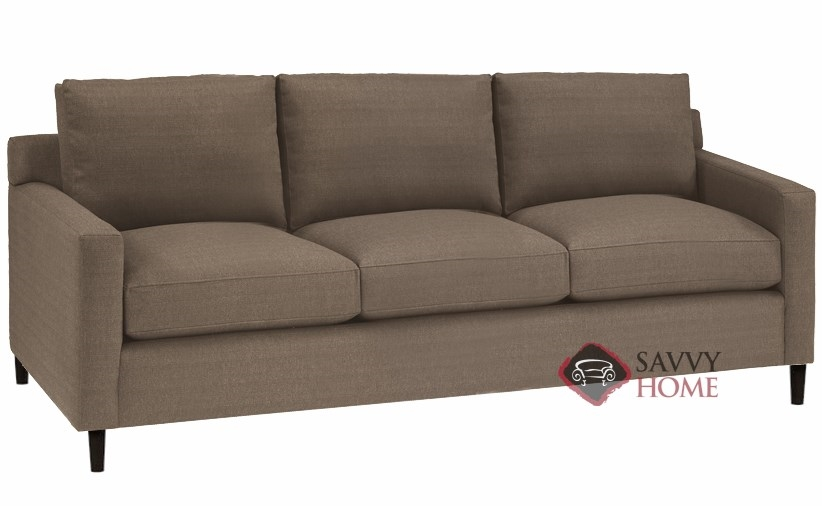 Quick-Ship Soho Fabric Stationary Sofa in Scan Truffle by Lazar Industries  with Fast Shipping   SavvyHomeStore.com