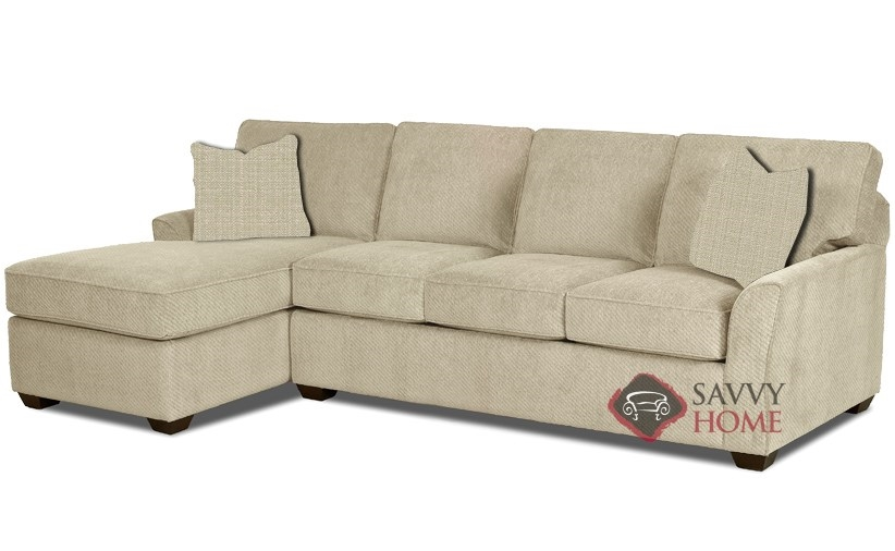 Quick-Ship Gold Coast Fabric Sleeper Sofas Chaise Sectional in Hilo Flax by  Savvy with Fast Shipping | SavvyHomeStore.com