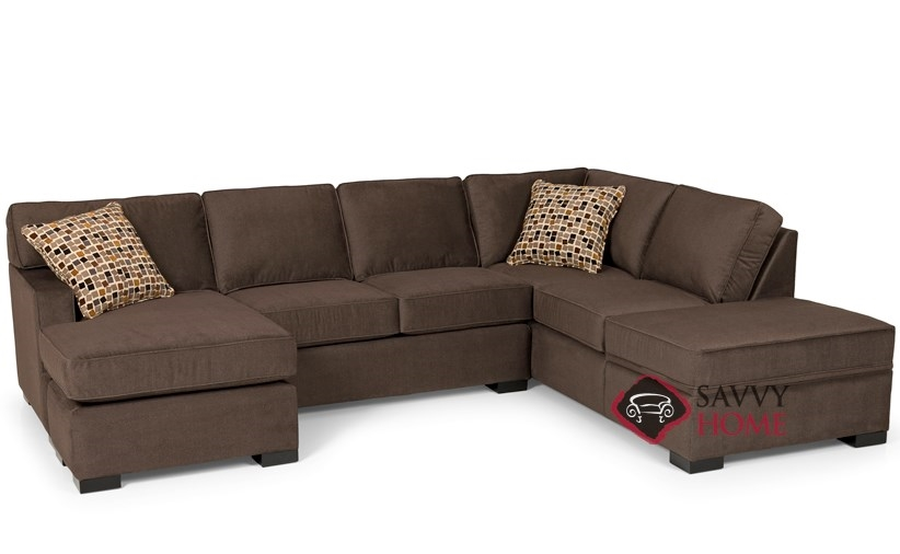 Awesome The 146 Dual Chaise Sectional Queen Sleeper Sofa With Storage By Stanton