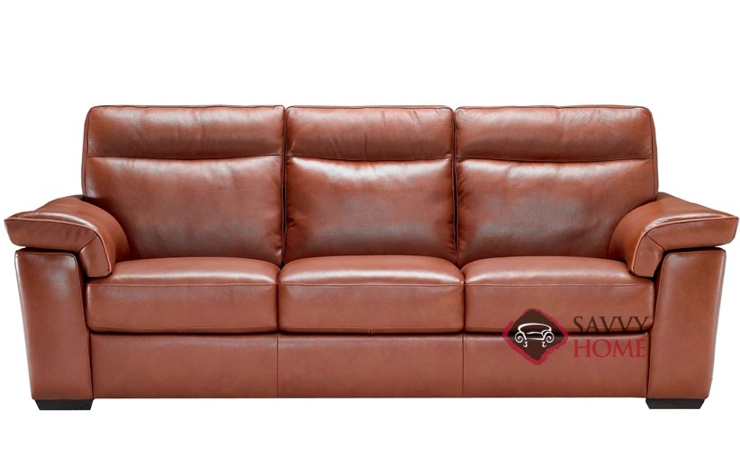 Cervo (B757 155) Reclining Leather Sofa By Natuzzi Editions