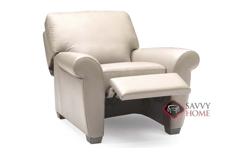 A121 Natuzzi Reclining Leather Chair