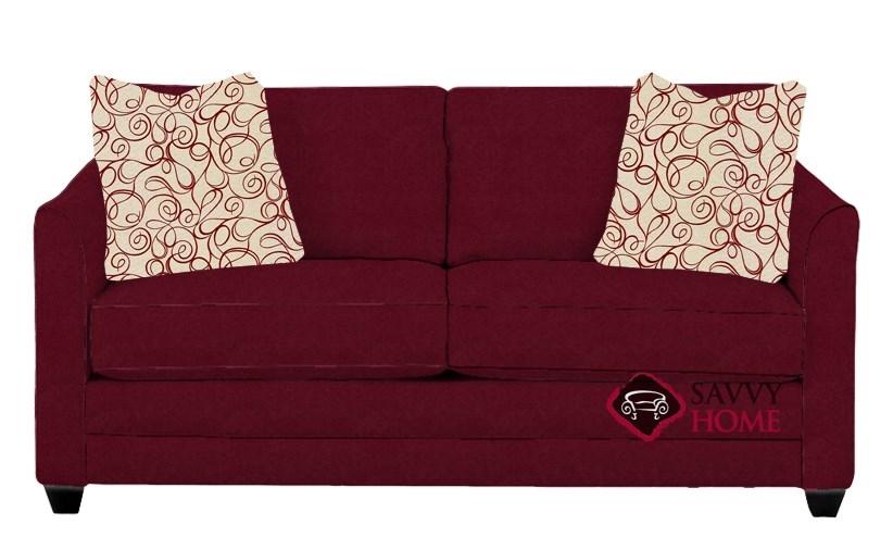 Charmant Valencia Full Sleeper Sofa By Savvy In Microsuede Cinnabar