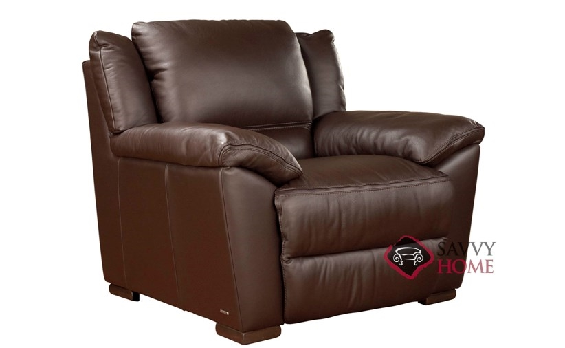 A319 004 Genoa Reclining Leather Chair By Natuzzi