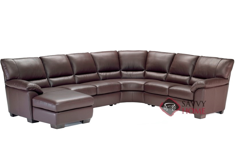 Trento (B632) Leather True Sectional with Chaise Lounge by Natuzzi Editions  sc 1 st  Savvy Home Store : sectional chaise lounge - Sectionals, Sofas & Couches