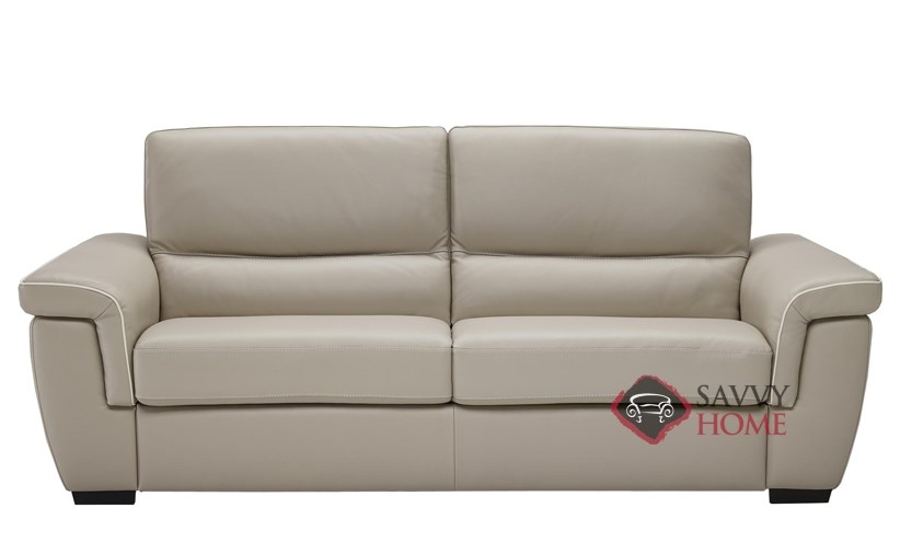 Cesano (B933 264) Full Leather Sleeper Sofa By Natuzzi Editions With  Greenplus