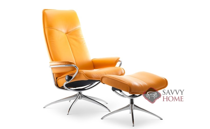 City High Back Reclining Chair And Ottoman By Stressless