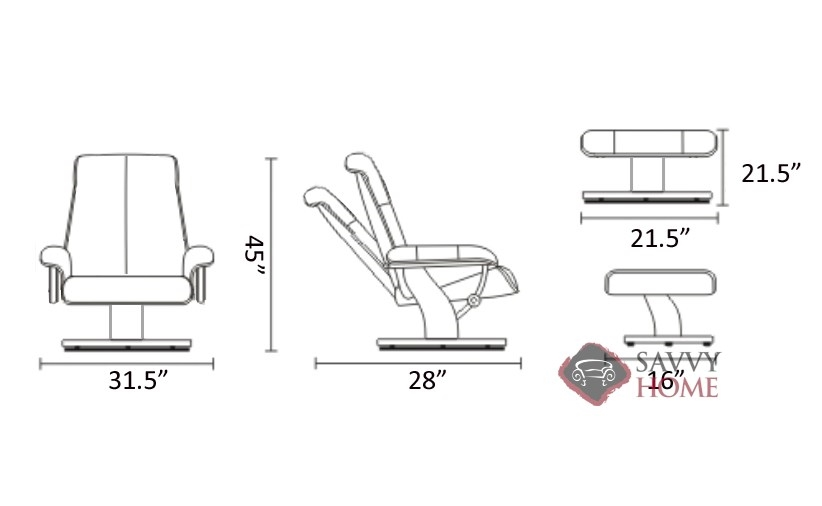 ... Metro High Back Reclining Chair And Ottoman Diagram By Stressless