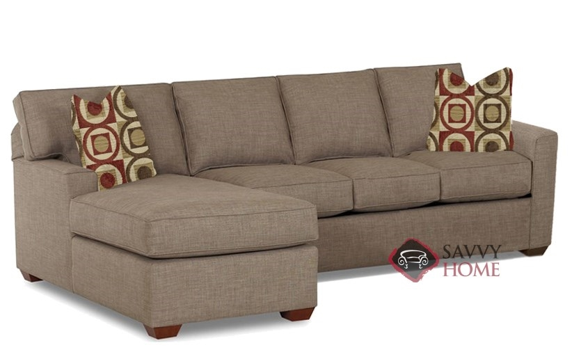 Quick-Ship Palo Alto Fabric Sleeper Sofas Chaise Sectional in ...
