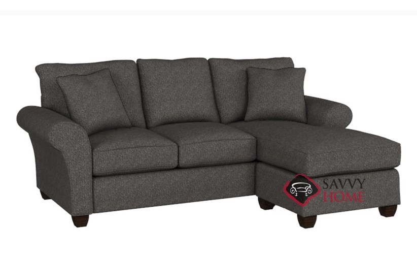 Charmant ... The 320 Chaise Sectional Queen Sleeper Sofa In Cornell Pewter ...