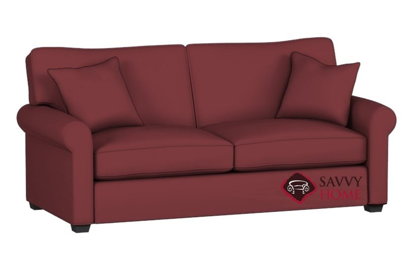 The 225 Queen Sleeper Sofa By Stanton In Caprice Mulberry