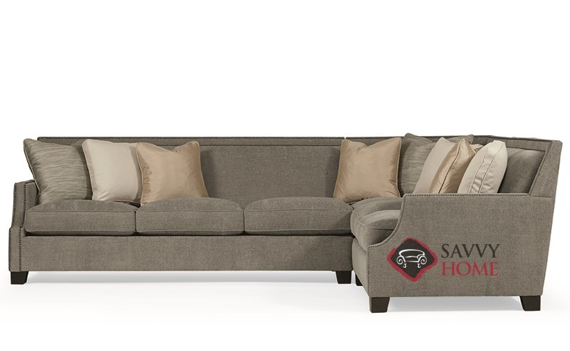 Franco True Sectional With Down Blend Cushions By Bernhardt Interiors