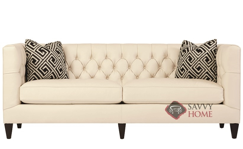 Beckett By Bernhardt Interiors Leather Stationary Sofa By Bernhardt