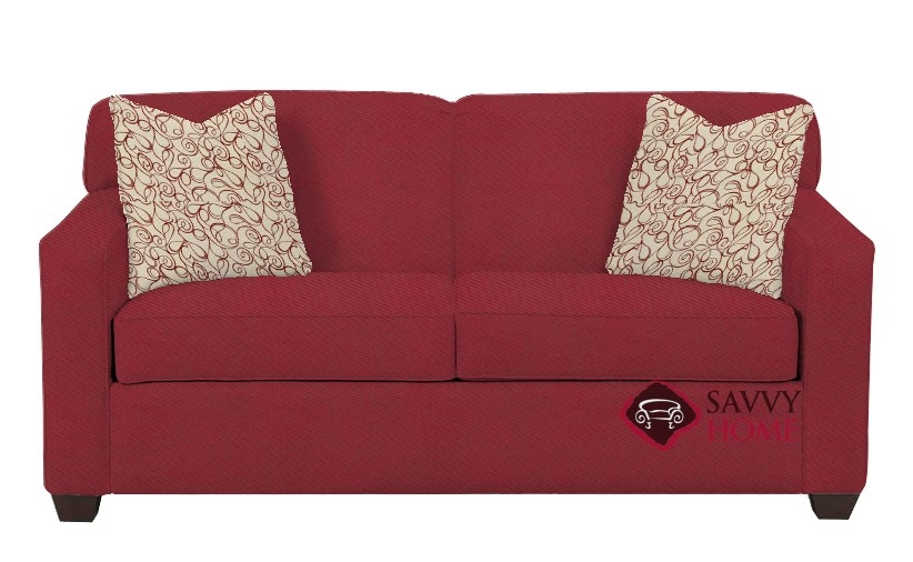 Magnificent Quick Ship Geneva Fabric Sleeper Sofas Full In Willow Blaze Red By Savvy With Fast Shipping Savvyhomestore Com Dailytribune Chair Design For Home Dailytribuneorg